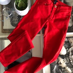 Red Skinny Jeans by Divided H&M